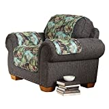 Collections Etc Northwoods Quilted Bear Furniture Cover, Chair