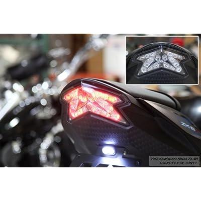 Motorcycle Rear Turn Signal Light For Kawasaki Ninja ZX-6R 2013-2018 SMOKE