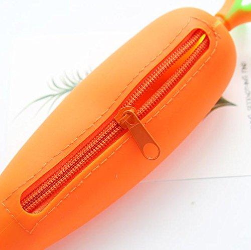 Cosanter 1 pc Silikon Buntstifte Federmäppchen Große Makeup Case Kosmetiktasche für Kugelschreiber, Bleistifte und mehrere andere Verwendungen