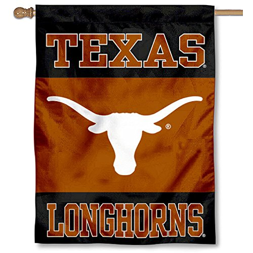 Longhorns Banner Texas Fan Ncaa - College Flags and Banners Co. Texas Longhorns Banner House Flag
