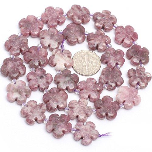 Strawberry Quartz Beads for Jewelry Making Gemstone Semi Precious 15mm Flower 15