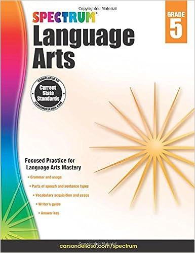 Spectrum Language Arts, Grade 5: Spectrum: 9781483812090: Amazon ...
