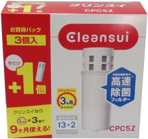 CPC5Z special set 3 pieces super high-grade cartridge-type water purifier handy replacement pot CLEANSUI CLEANSUI Rayon (Japan import)