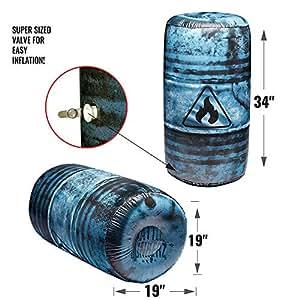 Amazon.com: BUNKR Battle Zones - barril de aceite hinchable ...