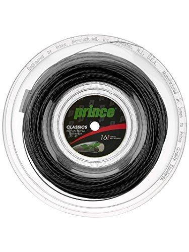 Prince SynGut Duraflex 16 660 Reel Black (Best Synthetic Gut String For Hybrid)