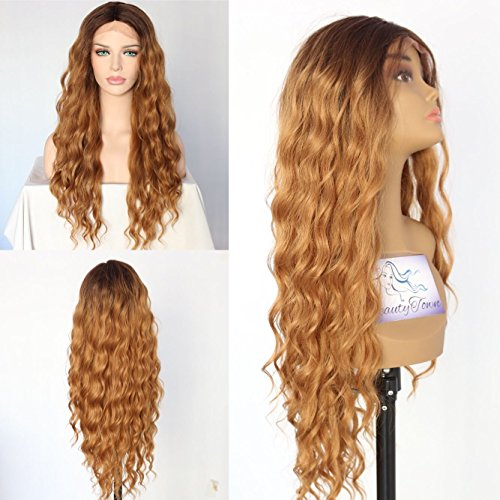 Strand Light Sapphire (Color #4 Ombre Brown/ Red Light Yaki Blogger Daily Makeup Synthetic Lace Front Wigs For Black Girls (Ombre Brown))