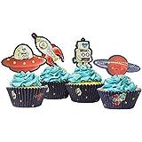 toppers à cupcake gingembre ray vaisseau spatial et robot