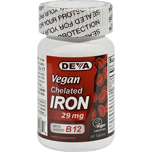 (Deva Vegan Vitamins Chelated Iron - 29 mg - 90 Tablets )