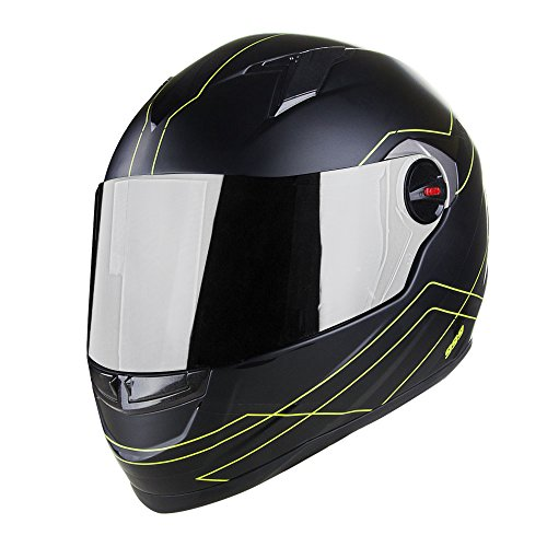 Voss 999 Bandito Full Face Matte Apex Fuse Helmet with Iridium Face Shield - 3XL - Matte High Visibility