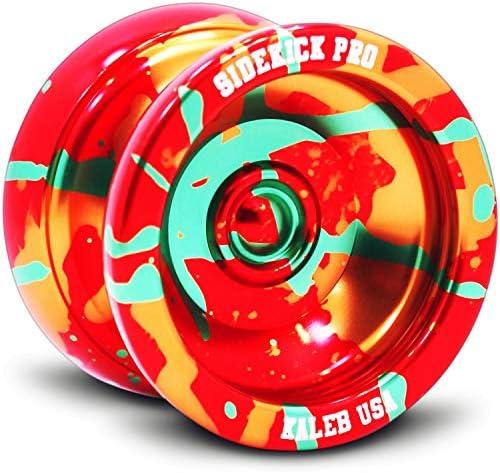 Sidekick Yoyo Pro Black Red Gold Splashes Professional Aluminum UNresponsive...