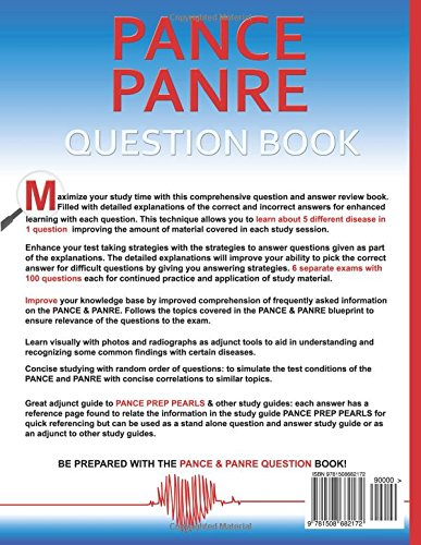 Buy pance and panre question book a question and answer review book buy pance and panre question book a question and answer review book for the physician assistant national certifying examination pance and recertifying malvernweather Image collections