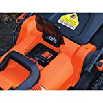 BLACK+DECKER 40V MAX Cordless Lawn Mower, 20-Inch (CM2043C) 16 Two 40V max Lithium ion batteries are included for twice the runtime Mulching, bagging and side discharge of grass clippings gives you 3-in-1 versatility Mow right up to edges and spend less time trimming thanks to the edgemax design