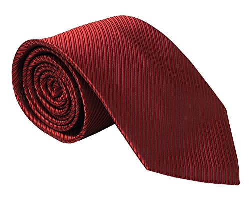 Secdtie Men Burgundy Red Black Tie HANDMADE Luxury Suit Necktie Birthday Present (Shirt Burgundy Dress Luxury Stripe)