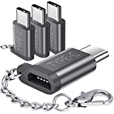 USB Type C Adapter 4 Pack, JS Aluminum USB C to Micro USB Convert Connector with Keychain for Samsung Galaxy S8 New Macbook Pixel XL Nexus 5X 6P LG G5 G6 V20 Nintendo Switch and More(Grey 4 Pack)