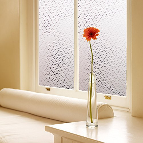 Amazon.com: Coavas Non Adhesive Static Frosted Window Film Stained Glass Window  Film Privacy Film For Home Bathroom Living Room, 35 Inch By 78.7 Inch:  Arts, ...