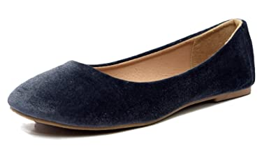 c3b9e8cba948a Ballet Flats for Women, Women's Lightweight Fashion Comfy Basic Round Toe  Ballet Velvet Material Classic