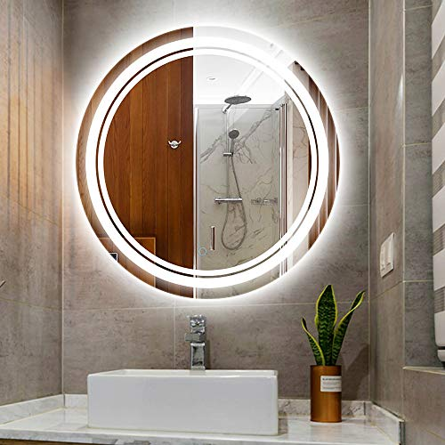 Mirror Illuminated LED Bathroom, with Touch Sensor Switch, Dimming Function,Waterproof Light Belt, -