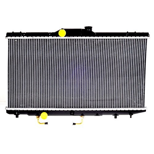 (JSD A/T at Radiator for 1993-1997 Toyota Corolla 2 Row Radiator for Geo Prizm 1.6 1.8L L4 4Cyl Ref# CU1409)