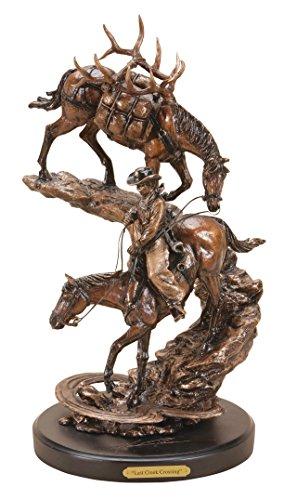 Marc Pierce Last Creek Crossing Cowboy with Horses Bronze Sculpture by Big Sky - Montana Bronze Sculptures