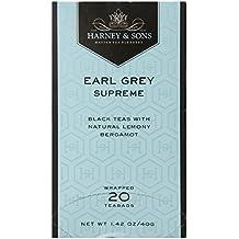 Harney & Sons Black Tea, Earl Grey Supreme, 20 Tea Bags