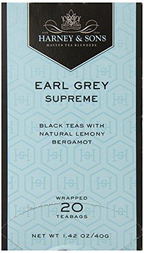 Harney & Sons Black Tea, Earl Grey Supreme, 20 Tea Bags (Black Tea Supreme)