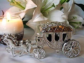 Pack of 12 Silver Horse Carriage Wedding Favour Boxes Amazonco