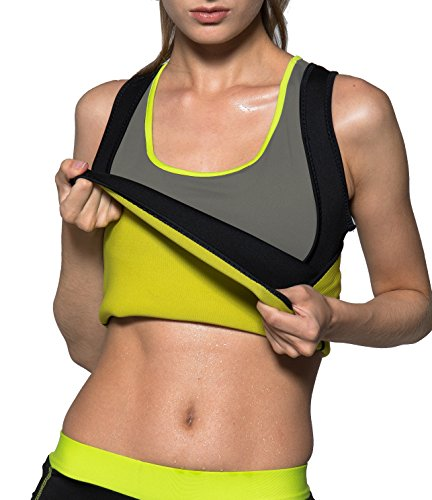 Womens Hot Sweat Body Shaper Weight Loss Vest Sweat Sauna Vest No Zipper Black by Rdfmy - Women Usa Hot