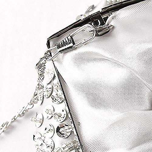 pour UNYU Clutch Evening Bag femme Silver color Multi Pochette IIqfr