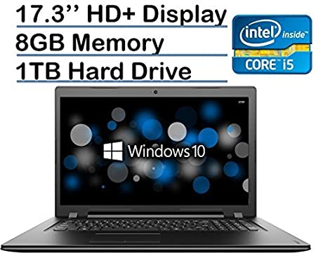 "17.3"" display 1600 x 900 resolution for high-quality images and fine detail. Energy-efficient LED backlight. 6th Gen Intel® Core™ i5-6200U mobile processor Intel Core i5-6200U 2.3GHz (Turbo up to 2.8GHz), Dual-Core 8GB system memory for advanced mult..."