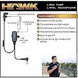 HAWK Police Lapel Microphone Earpiece for Vertex Standard VX Radios (See List)