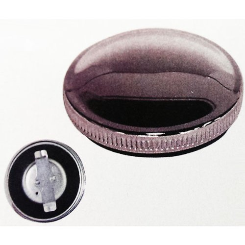 BKrider Non-Vented Chrome Blade OE Style Gas Cap for Late Harley 73-82 Single and Fat Bob (C01170137) ()