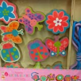 wooden lacing blocks - Flowers & butterflies by Horizon Group USA