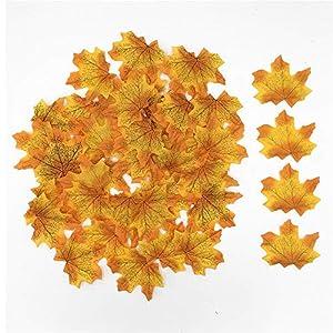 yuqinBB Artificial Fall Fake Maple Leaves Wedding Thanksgiving Festival Table Decorations 102