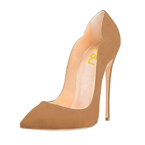 b75c3ce106e FSJ Women Classic Pointed Toe High Heels Sexy Stiletto Pumps Office Lady  Dress Shoes Size 4-15 US