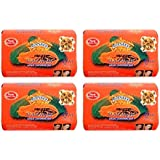Asantee Thai Papaya Herbal Skin Whitening Soap 135g (Pack of 4)
