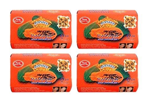 Asantee Papaya and Honey Skin Whitening Facial Soap Pack of 4