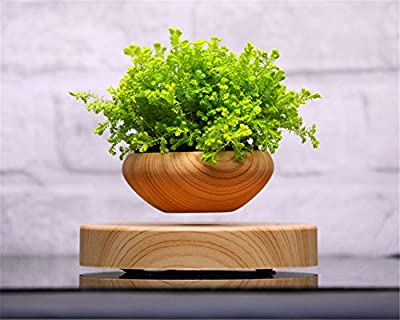 Zomtop Magnetic Levitation Air Bonsai Suspension Flower Pot Potted Plant Levitate Tubs