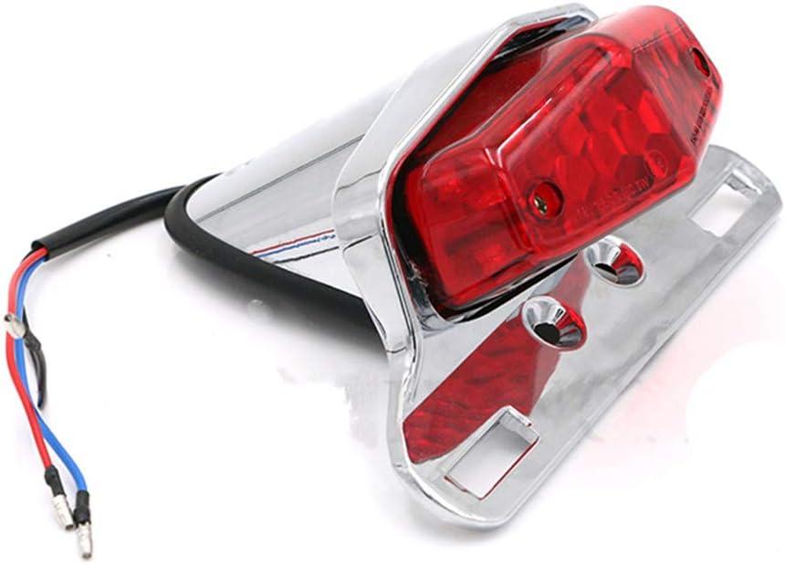 WYShop Motorrad Universal 12V Hinterradbremse R/ücklicht Kennzeichenleuchte Custom F/ür Harley Bobber Honda Yamaha Chrome + Smoke Lens
