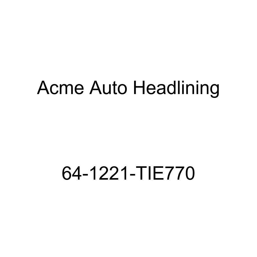Acme Auto Headlining 64-1221-TIE770 Black Replacement Headliner Oldsmobile Cutlass /& F85 2 Door Coupe 5 Bows