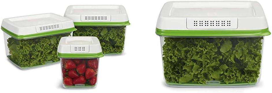 Rubbermaid - FreshWorks Produce Saver Food Storage Container, & 1920479 17.3Cup Produce Container, 17.3 Cup, Green