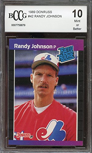 1989 donruss #42 RANDY JOHNSON montreal expos rookie card BGS BCCG 10 graded card