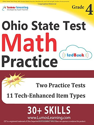 Ohio State Test Prep: 4th Grade Math Practice Workbook and Full ...