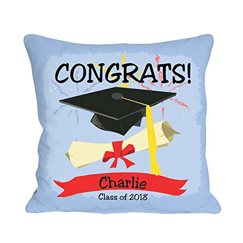 GiftsForYouNow Personalized Graduation Congrats Throw Pillow, Removable Cover, 14