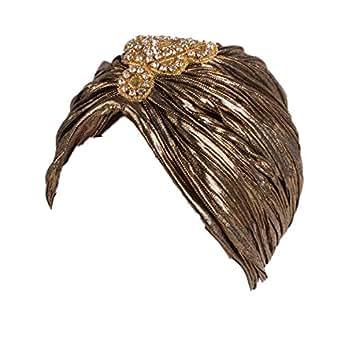 Seevy Sun Visor Hat Hologram Wide Brim UV Protection Sports Headband Cap - Gold - One Size