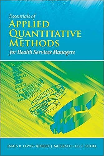 Essentials of Applied Quantitative Methods for Health Services