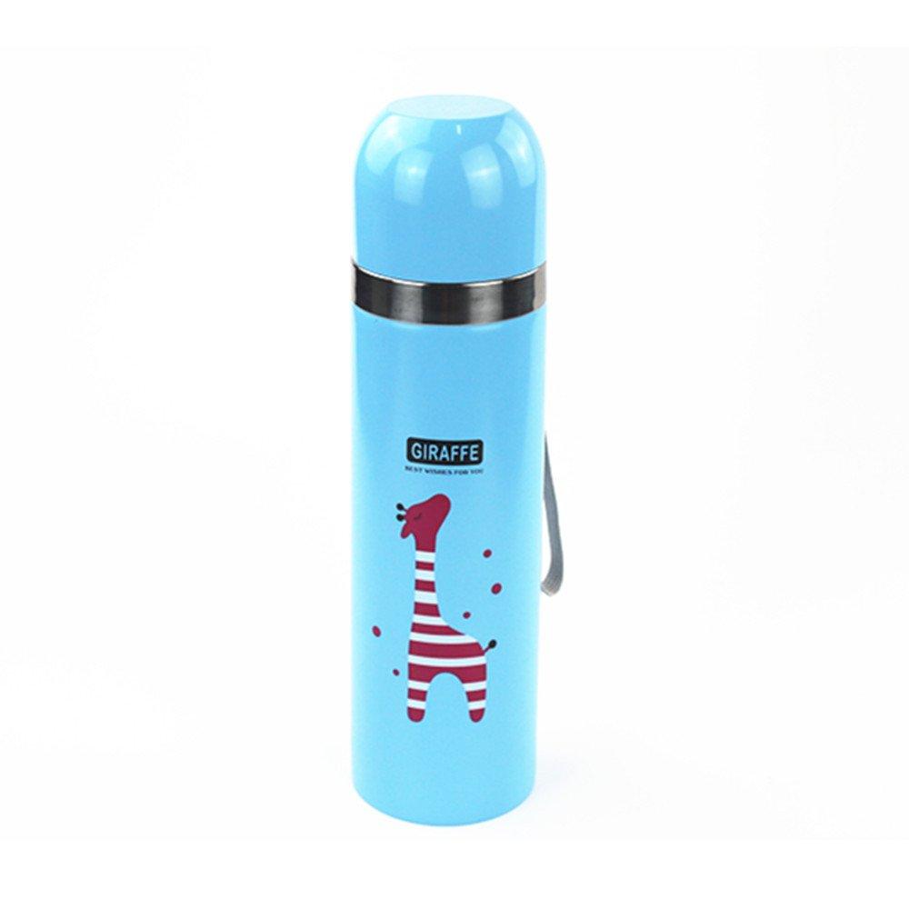Oft - Tazza/borraccia termica spessa, 500ml, in acciaio inox, con fascetta Blue OFT eppro