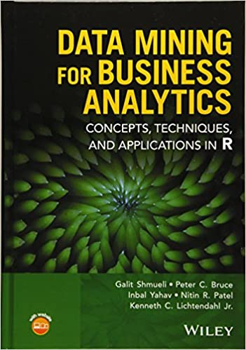 Amazon data mining for business analytics concepts techniques techniques and applications in r 9781118879368 galit shmueli peter c bruce inbal yahav nitin r patel kenneth c lichtendahl jr books fandeluxe Choice Image