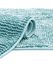 AmeliaHome Mata łazienkowa 50x70 cm Dywanik łazienkowy antypoślizgowy Bati jasnoniebieski