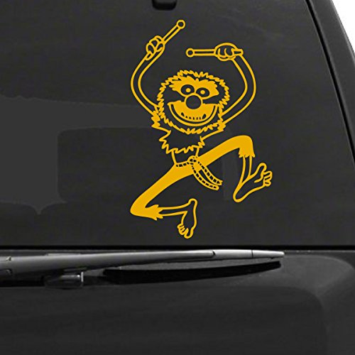 Muppets Animal Car Decal, Yellow, 8