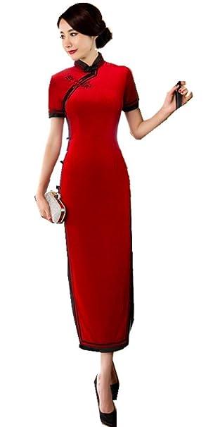 Amazon.com: Shanghai Story largo Cheongsam Qipao Vestido ...